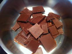 chocolate en trozos