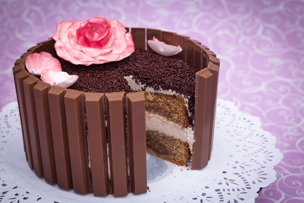 Tarta de KitKat