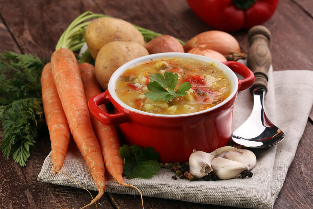 Receta sopa de verduras casera