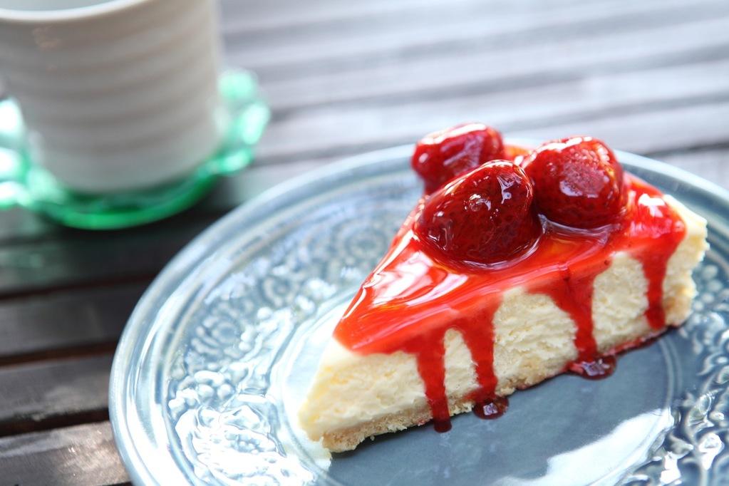 tarta queso fresas