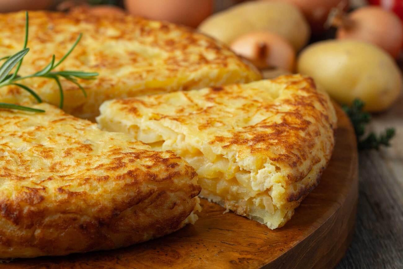 tortilla patatas cebolla